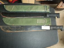 Vintage Machete with Canvas Sheath Lot of 2 Survival Knife Hunting Wilderness