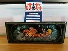 RARE Russian Lacquer Box - Vintage Troika -  Made in USSR