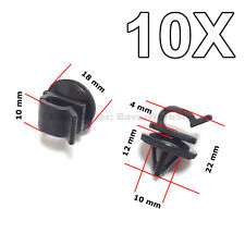 10X Hood Prop Rod Clips, Wiring Harness Clips for Honda