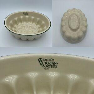 The Victorian Pottery jelly mould ceramic decorative Vintage Kitchenalia