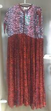 Kenzo x h&m vestido de seda rojo tiger a rayas dress Silk size tamaño S-XL 38-46 aprox.