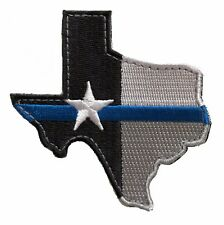Thin Blue Line Texas Morale Patch Hook & Loop Gear Bag Tac Vest Police