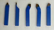 Kit  de 5 outils de tour en carbure brasé nuance P30 ISO carré de 20 mm  KIT A