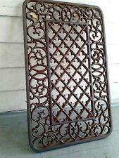 Heavy Iron Floor Mat Grate Ornate Morning Glory Flower Garden Fence Panel Gate