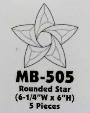 MIKA MB-505 Rounded 5-Pointed Star Stained Glass Bevel Cluster