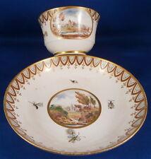 Rare 1800 Derby Porcelain Scenic Cup & Saucer Porzellan Tasse English England