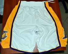 NBA LOS ANGELES LAKERS BASKETBALL SHORTS JERSEY ADIDAS SIZE M ADULT