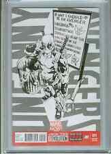 Uncanny Avengers #1  (Brooks Sketch)   CGC 9.6  WP