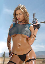 HOT SEXY PHOTO A4 girls with guns Penny Mathis (8x12)
