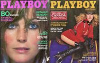 PLAYBOY 1980 Lot of 2-Bo Derek,Girls Of Canada,G.Gordon Liddy Intvw,Dr. Shockley