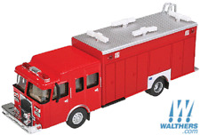 HO Scale Walthers Scenemaster 949-13802, Hazardous Materials Fire Truck, RED