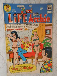 LIFE WITH ARCHIE No. 136 Aug. 1973 comic book 8.5 VF + High Grade comic Vintage