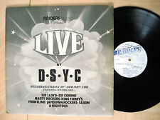 Raiders Music Presents Live At D.S.Y.C UK LP RDS-001 1983 EX