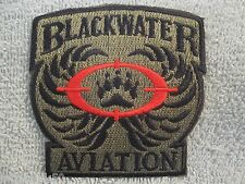 "BLACKWATER AVIATION Patch ""Operation Enduring Freedom"" Subdued Blackwater Patch"