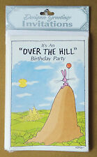 "8pk It's An ""OVER THE HILL"" Birthday Party Invitation Cards Designer Greetings"