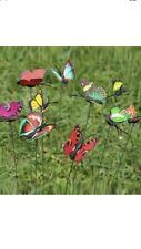 10 Plastic Butterflies On Sticks Garden Pot Cemetery Picks Wedding Craft  Florist