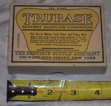 Vintage The Dentist Supply Company Box Top Trubase: Dentsply, Baseplate