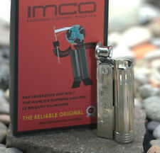 IMCO Benzin Feuerzeug Junior Oil 6600P mit Logo in chrom nickel