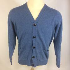 Minty Vintage LL Bean Wool 100% Lambswool Cardigan Sweater Shirt Jacket M Blue