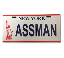STICKER ASSMAN NUMBER PLATE NEW YORK SEINFELD BUMPER STICKER FREE POST
