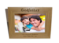 Godfather Wooden Photo Frame 7x5 - Personalise this frame - Free Engraving