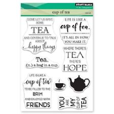 PENNY BLACK RUBBER STAMPS CLEAR CUP OF TEA NEW clear STAMP SET