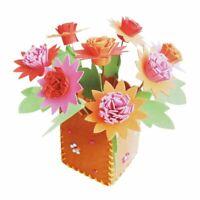 DIY 3D EVA Foam Flower Flower Pot Home Jigsaw Toy Kids Handcraft Flower Basin~