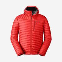 Eddie Bauer MicroTherm 2.0 Hooded 800 Fill Down Puffer Jacket Red NWT Men's S