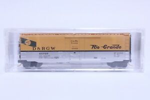 MTL N SCALE DENVER & RIO GRANDE WESTERN 50' PLUG DOOR BOX CAR NEW IN BOX