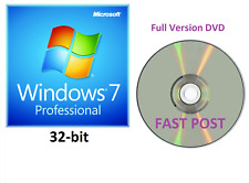 Windows 7 Professional 32-Bit DVD de instalación de arranque Versión Completa SP1 Disco Cd