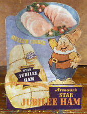 Armour's Star Jubilee Ham Advertising Counter Sign with Dwarf from Snow White