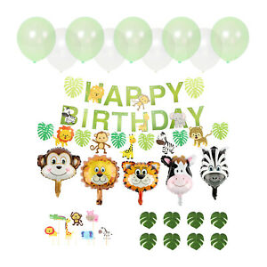 Birthday Decor Balloons Jungle Animal Head Foil Balloon Inflatable Zoo Party Kit