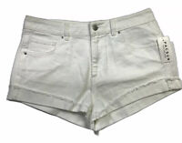 Kendall And Kylie Pacsun Shorts White Denim size 27 Cuffed