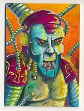 2019 Viceroy Artist Choice Sketch Art Card ROBOT REBOOT by GEORGE DEEP