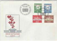 Switzerland 1962 Museum Palace of Nations ONU Slogan FDC Stamps Cover Ref 25411
