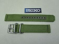 Genuine Seiko SNK805 SNK813 olive green weaved nylon watch band 18mm 4K11JZ