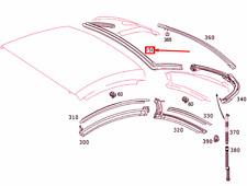 Mercedes-Benz Sl R230 Heck Fenster Oberteil Dichtung A2307902898 Neu Original