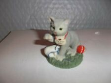 "Calico Kitten Figurine ""Fit For Life"""
