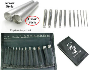 Insertion Taper 13pc Set Calor Style 18g-00g 1mm-10mm Expanders Lobe Expansion