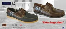 YACHTSMAN DECK SHOES SIZE 13 & 14 NAVY BROWN  : POST FREE  EXTRA LARGE SHOES