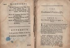 "DISBOUND & INCOMPLETE - ""GENTLEMAN'S FARRIERY"" (circa 1770) - WORTH RESTORATION"