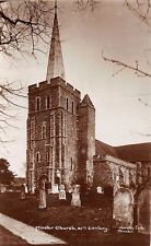 MINSTER IN THANET KENT UK XIth CENTURY CHURCH REAL PHOTO POSTCARD NOTES ON BACK