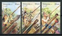 Malaysia 2018 MNH Blowpipes 3v Set Cultures Tradition Stamps