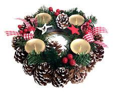 Corona Avvento Con Portacandela Disposizione Fiore Natale Decorazione Natalizia
