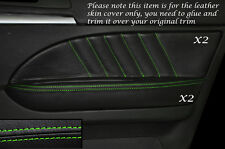 GREEN Stitch 2x FRONT DOOR CARD Trim in pelle copre gli accoppiamenti ALFA ROMEO 159 05-12