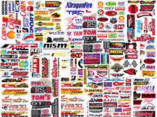 12 x Random Mixed Sheet Sticker Decal ATV Bike Racing Helmet Motorcross Dirt