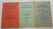 C1 Louis BARBILLION Soldats d Autrefois COMPLET 3 Tomes DEDICACE Grenoble SIGNED