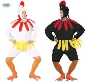 Adult Hen Chicken Costume Animal Farm Bird Fancy Dress Outfit