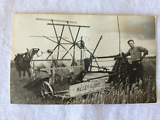 Carte Photo - MASSY HARRIS - Paysan Agricole Agriculture Chevaux Fauchage Foin