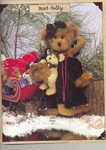 "BEARINGTON COLLECTION ""HOLLY"" 16"" JOINTED BEAR w/BABY BEAR  NWT"